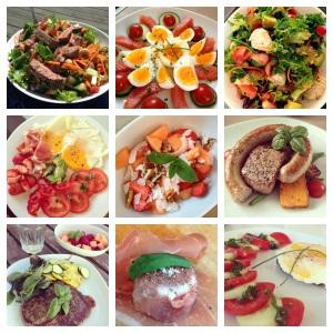 Se all den fargerike og deilige maten jeg har hatt glede av å spise de siste 30 dagene. Man blir lykkelig av farger :)