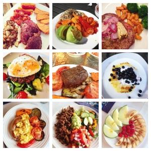 Jeg elsker mat og jeg elsker å spise - masse. På bildet til høyre ser du litt av maten jeg har hatt glede av å nyte de siste dagene.